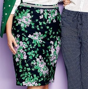 Talbots Oprah Collection floral pencil skirt, 14